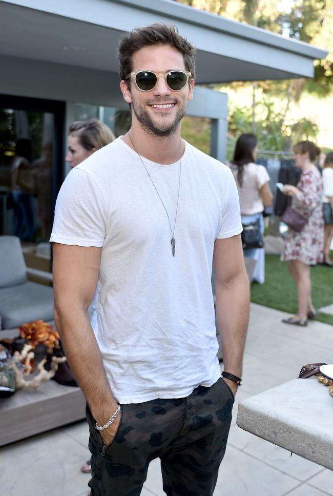 BEVERLY HILLS, CA - OCTOBER 28:  Actor Brant Daugherty, trying on Sama Eyewear, attends the Vince Camuto Mens exclusive preview at the home of Ashlee Margolis on October 28, 2015 in Beverly Hills, California.  (Photo by Stefanie Keenan/Getty Images for The A List)