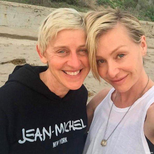 2 Ellen Degeneres and Portia de Rossi