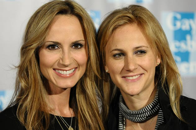 4 Chely Wright, 45, and Lauren Blitzer, 35
