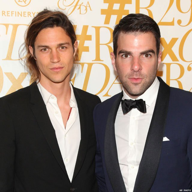 6 Zachary Quinto, 38, and Miles McMillan, 25
