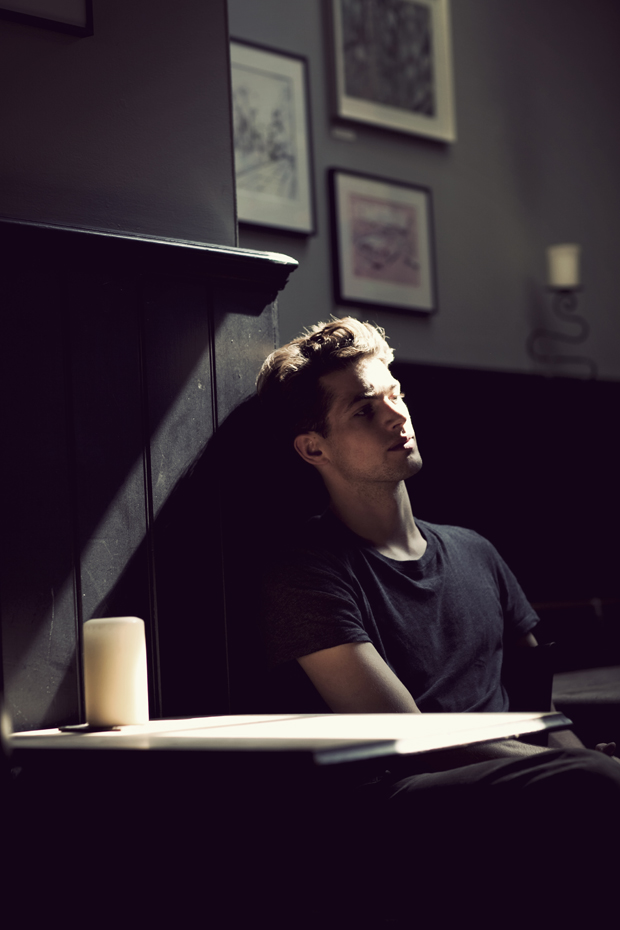 Jamie captured by Cecilie Harris at the Mason Arms in Battersea.