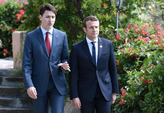 ภาพคู่ของ Trudeau & Macron